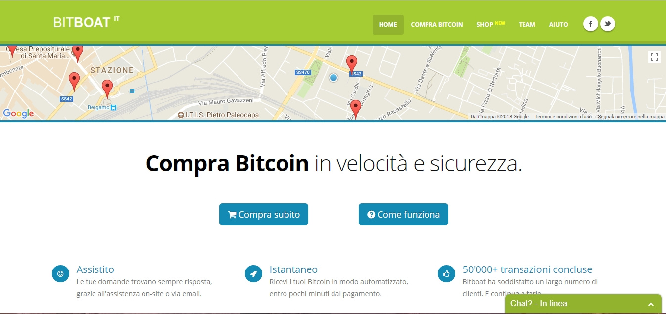 bitboat comprare bitcoin