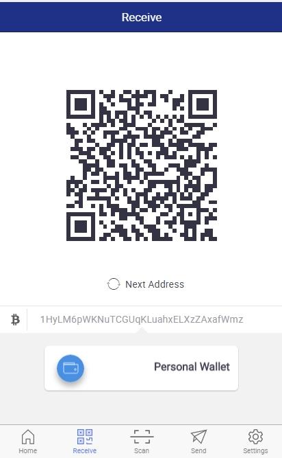 wallet bitcoin ricevi pagamento