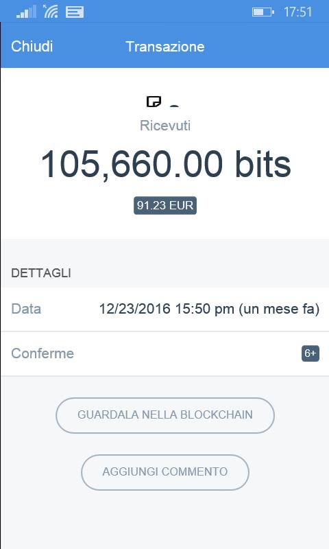 bitcoin pagamento ricevuto