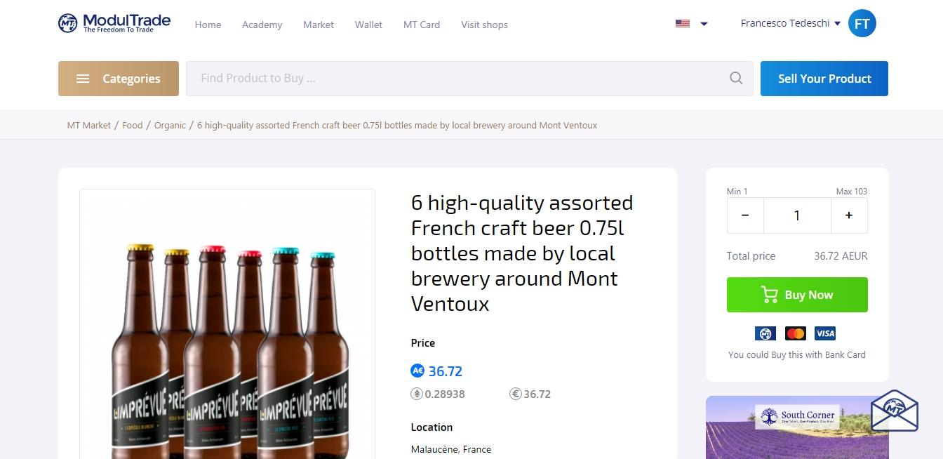 Comprare birra in bitcoin